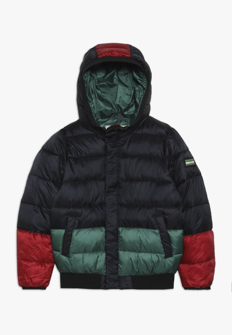 Scotch Shrunk - COLOUR BLOCK PADDED JACKET WITH HOOD - Veste d'hiver - black/green/red