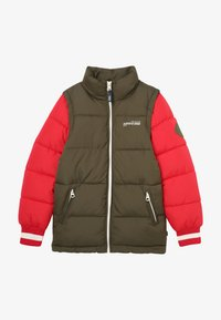 Scotch & Soda - COLOUR BLOCK JACKET WITH DETACHABLE SLEEVES - Winterjas - green/red - 3
