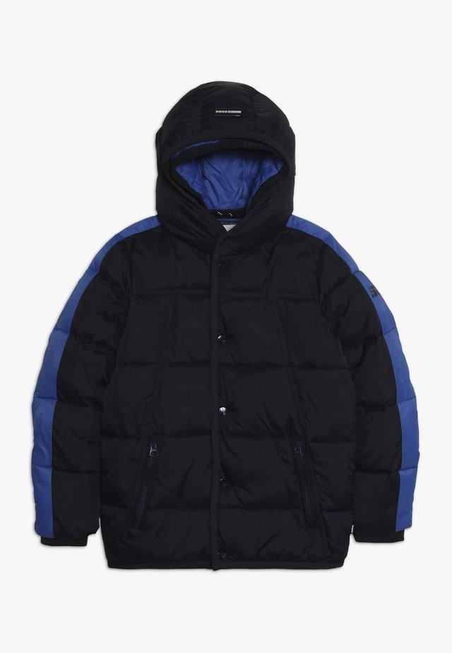 JACKET WITH DOUBLE HOOD CONSTRUCTION - Winter jacket - night