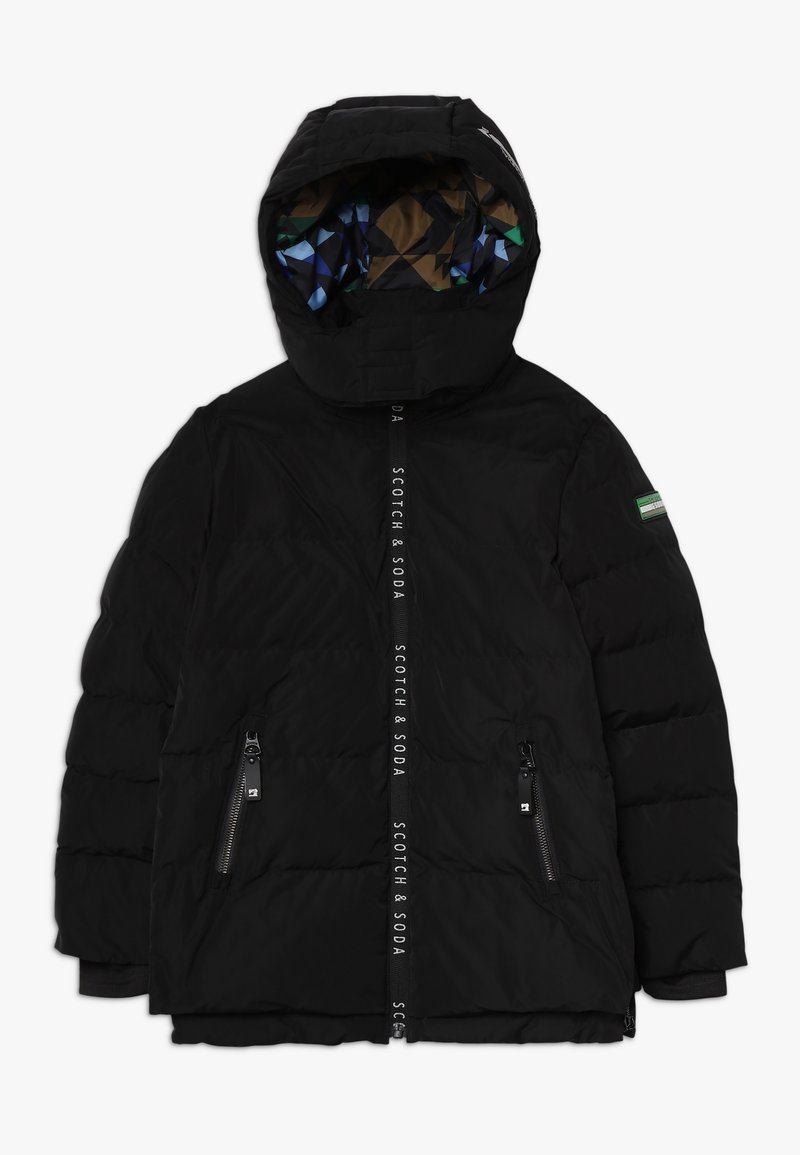 Scotch & Soda - JACKET WITH PRINTED ZIPPERS AND DETACHABLE HOOD - Winterjacke - black