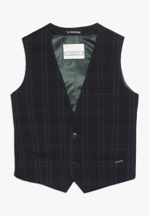 CLASSIC GILET IN STRUCTURED QUALITY - Suit waistcoat - blue