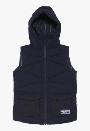 EASY BODYWARMER WITH DETACHABLE HOOD AND UTILITY POCKETS - Smanicato - midnight