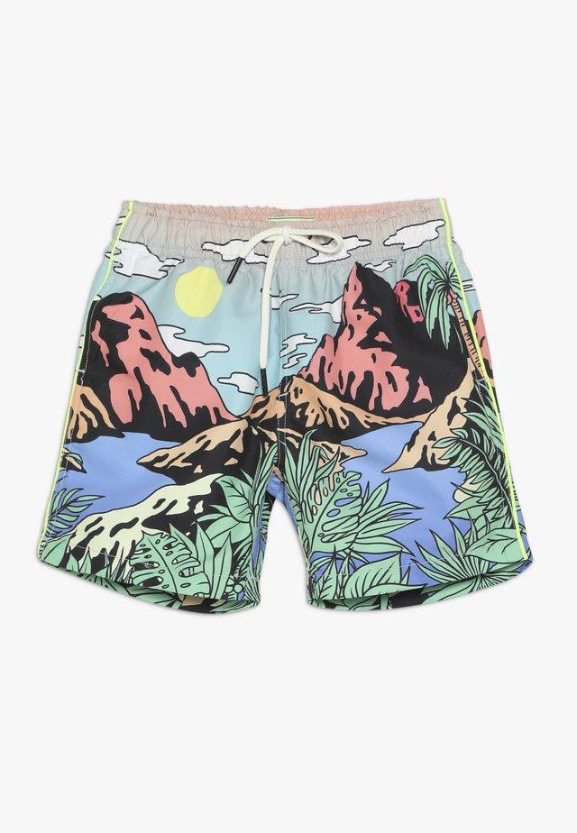 WITH SCENERY PRINT - Shorts da mare - multi-coloured