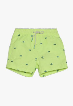 ALL-OVER EMBROIDERED - Zwemshorts - neon green