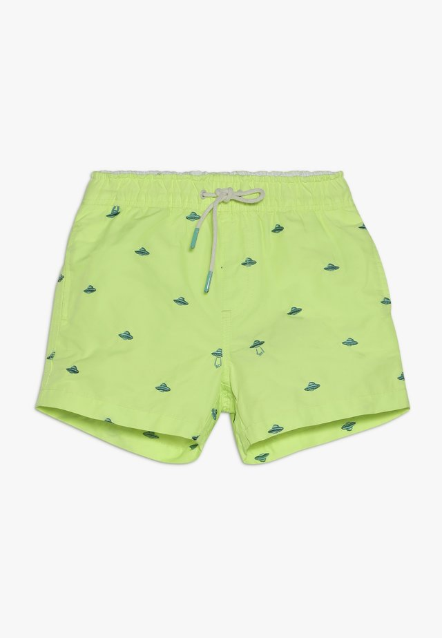 ALL-OVER EMBROIDERED - Badeshorts - neon green