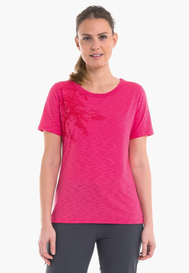 KINSHASA - Print T-shirt - 3045 - rosa