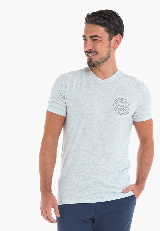 NURIA - Print T-shirt - mottled grey