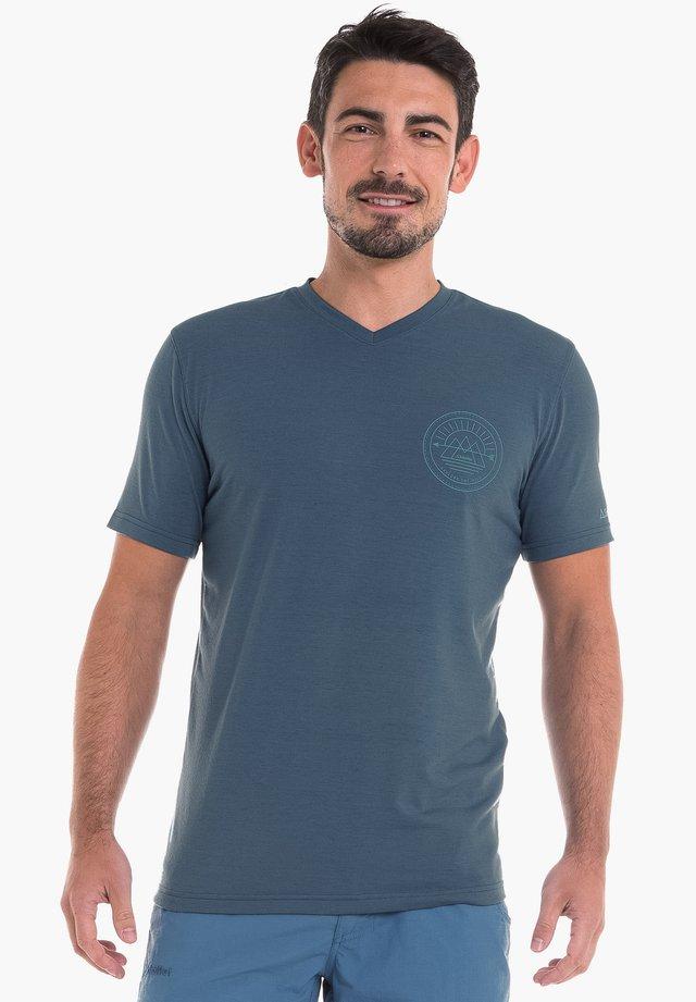 NURIA - Print T-shirt - blue