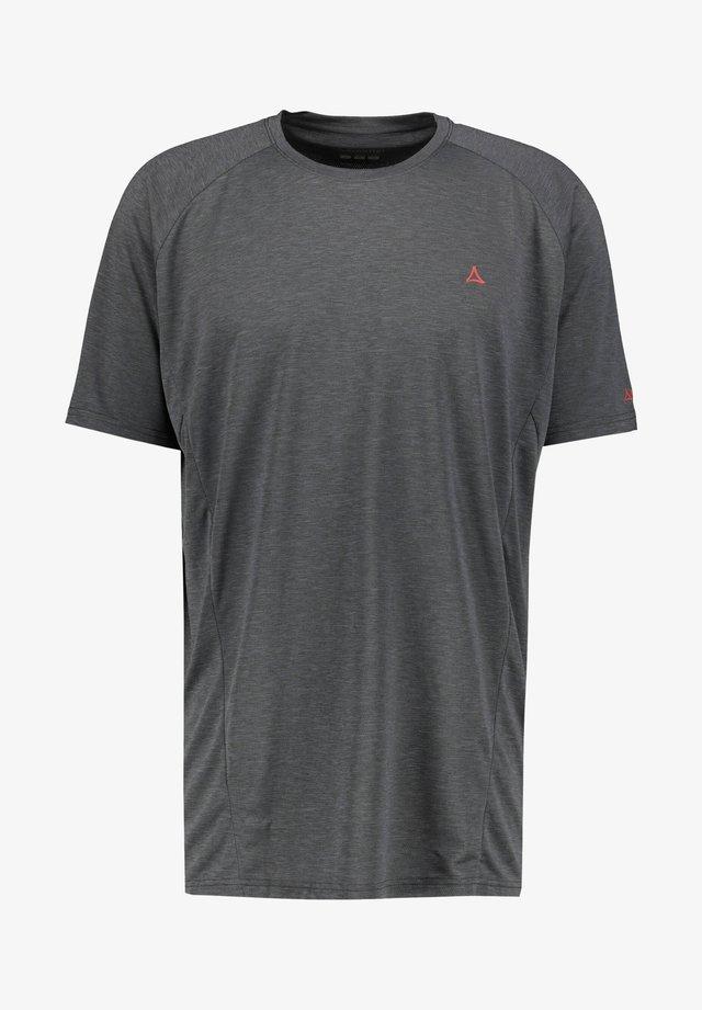 BOISE - Print T-shirt - anthrazit (201)