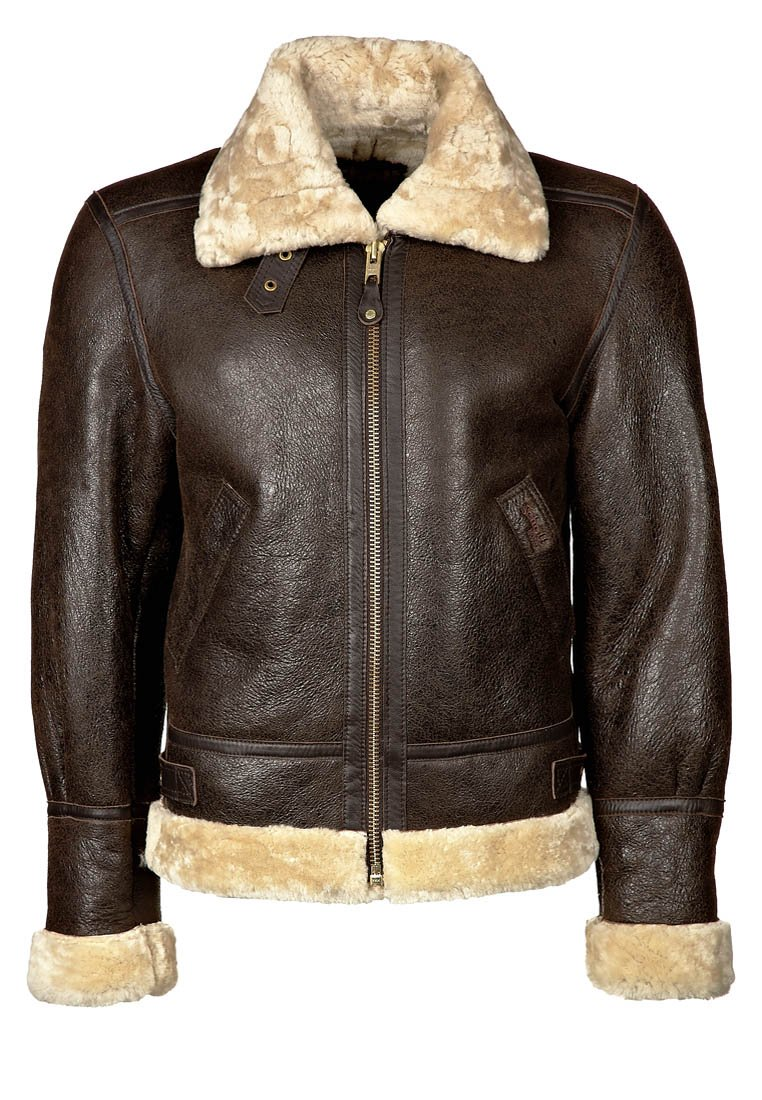 Schott - Lederjacke - dark brown