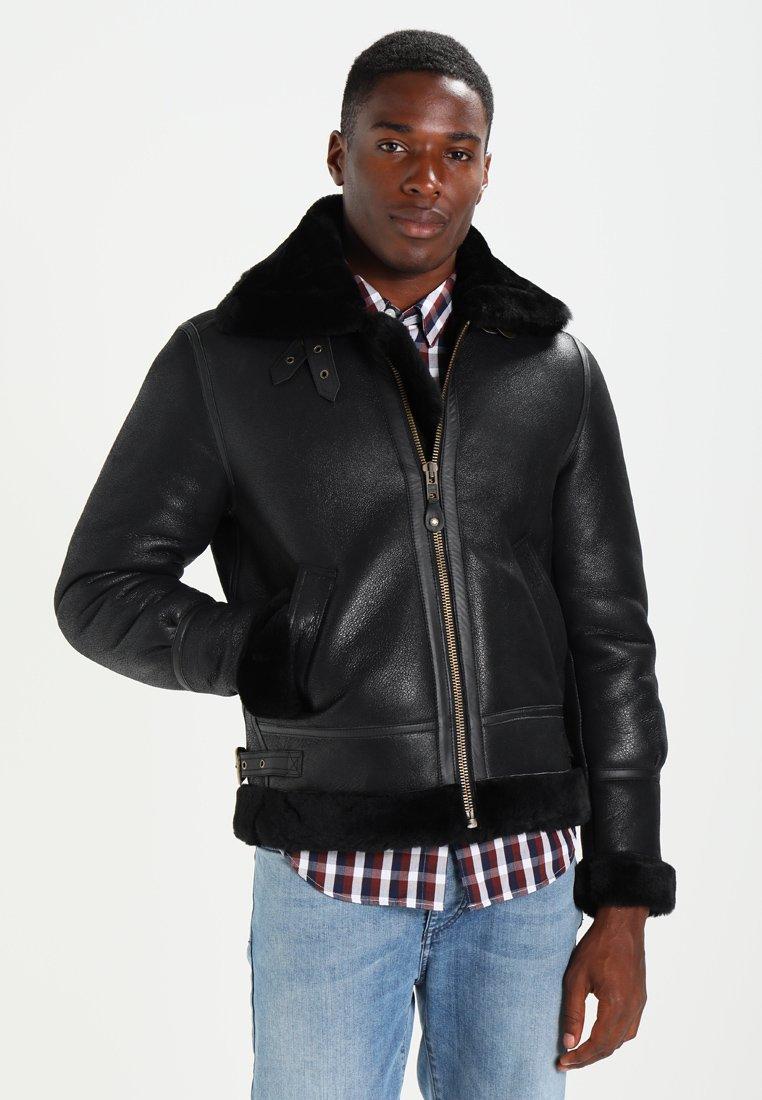 Schott - Leather jacket - black
