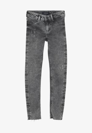 LA MILOU CROPPED - Jeans Skinny Fit - grey collage