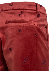 Scotch R'Belle - ALLOVER EMBROIDERED TAILORED PANTS - Pantalones chinos - brick - 2