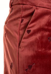 Scotch R'Belle - ALLOVER EMBROIDERED TAILORED PANTS - Pantalones chinos - brick - 3