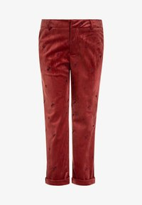 Scotch R'Belle - ALLOVER EMBROIDERED TAILORED PANTS - Pantalones chinos - brick - 0