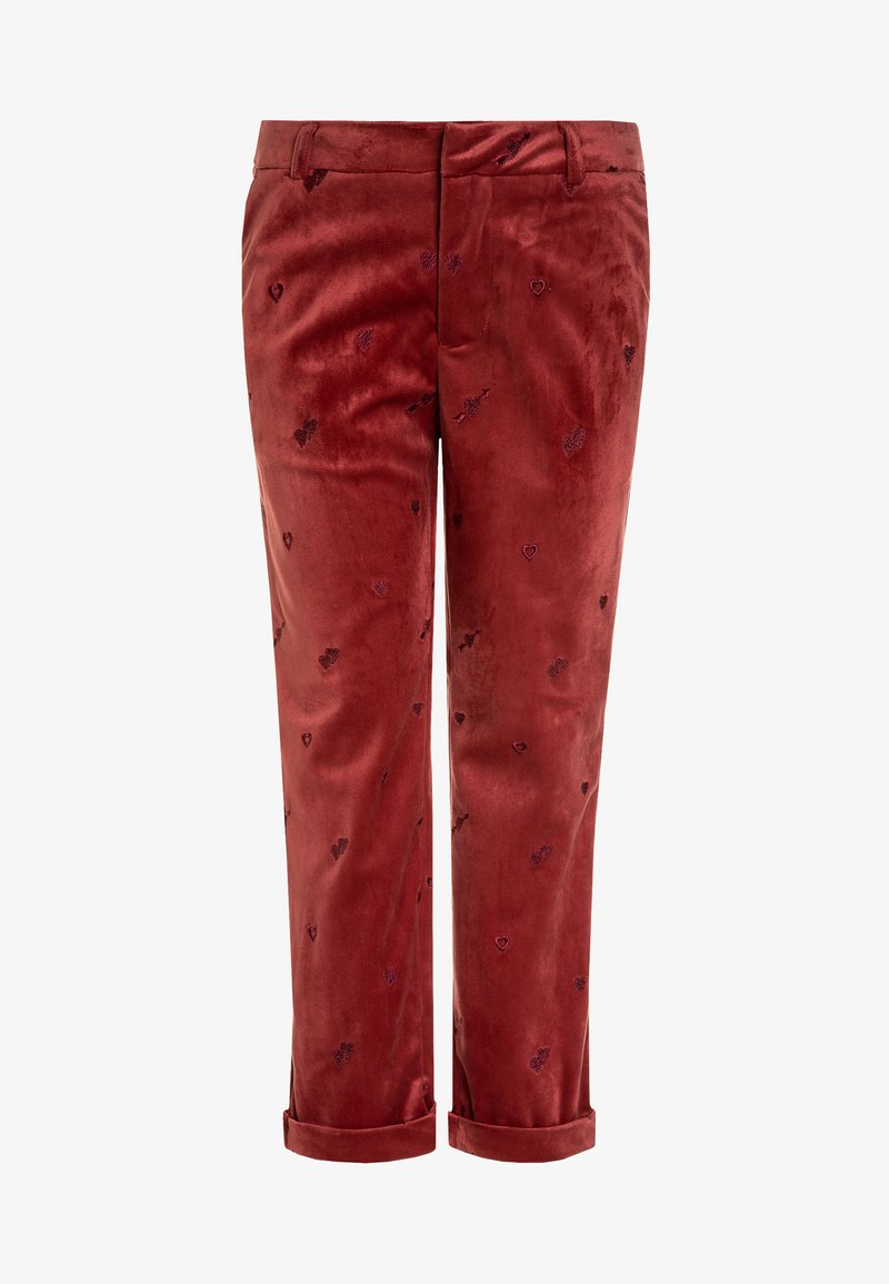 Scotch R'Belle - ALLOVER EMBROIDERED TAILORED PANTS - Pantalones chinos - brick