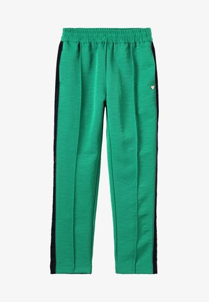 DRAPEY PANTS WITH SIDE TAPES - Tracksuit bottoms - paradise green