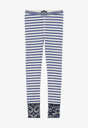 SPECIAL MIX - Leggings - Trousers - blue/white