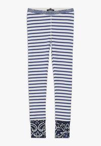 Scotch & Soda - SPECIAL MIX - Leggings - blue/white - 0