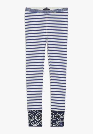 SPECIAL MIX - Legging - blue/white