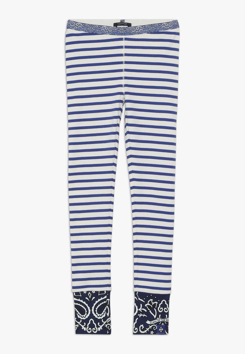 Scotch & Soda - SPECIAL MIX - Leggings - blue/white