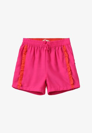DRAPEY WITH CONTRAST RUFFLE - Shorts - electric pink