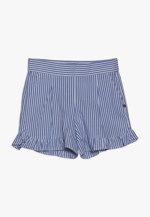 WITH RUFFLE - Shorts - blue/white