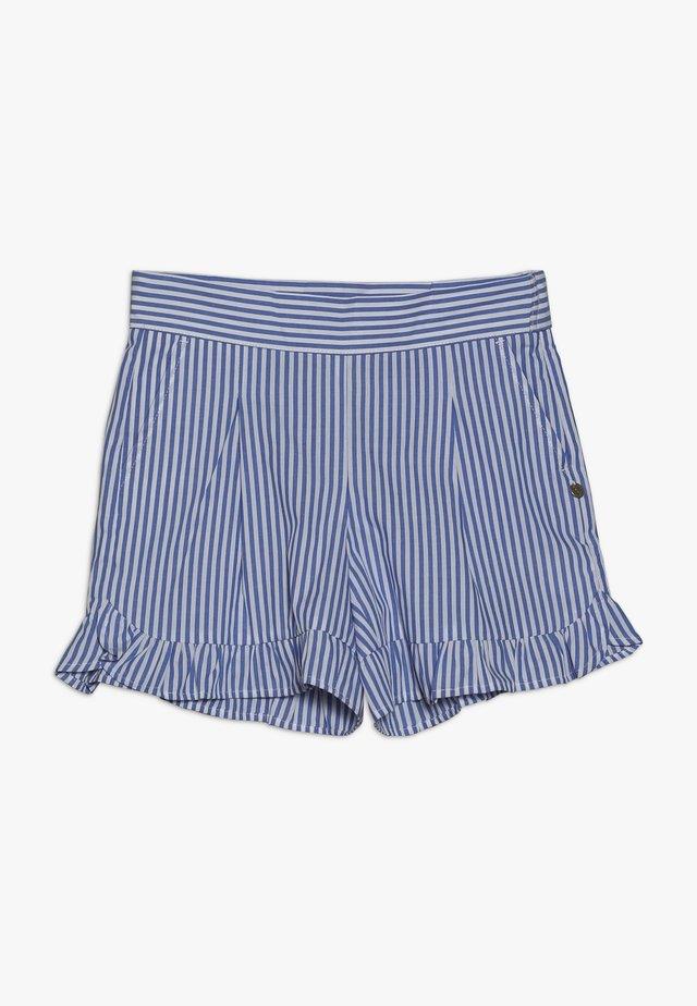 WITH RUFFLE - Shorts - blue/white