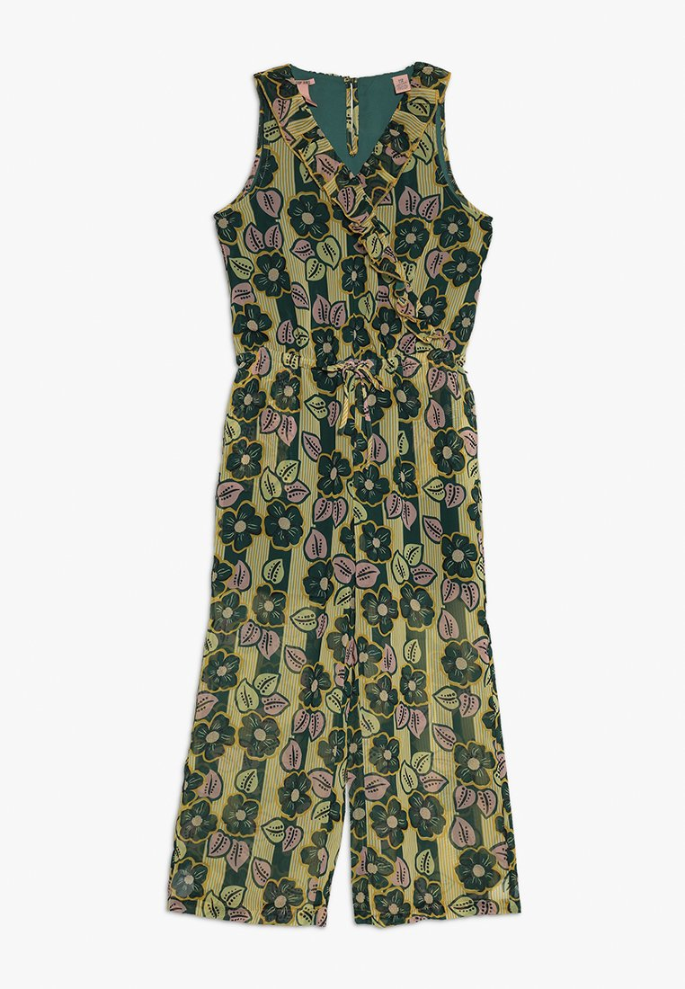 Scotch & Soda - PRINTED ALL-IN-ONE WITH WIDE LEGS AND RUFFLES - Jumpsuit - yellow