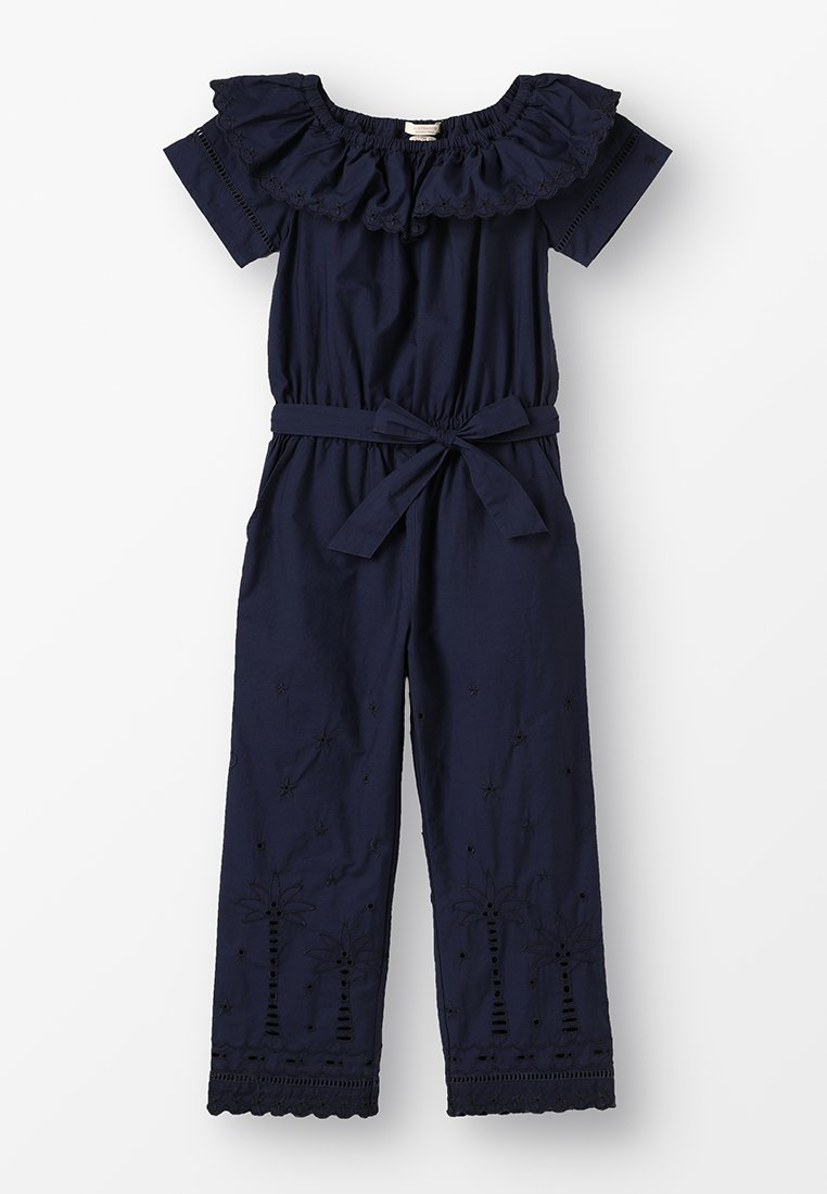 Scotch R'Belle - EMBROIDERY ANGLAISE OFF-SHOULDER ALL-IN-ONE WITH WIDE LEGS - Jumpsuit - night