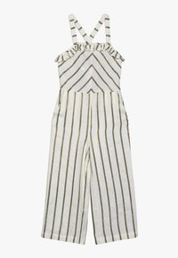 Scotch & Soda - WIDE LEG ALL IN ONE WITH RUFFLES IN DYED STRIPE - Overal - white/gold - 0