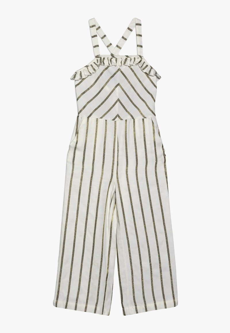 Scotch & Soda - WIDE LEG ALL IN ONE WITH RUFFLES IN DYED STRIPE - Overal - white/gold
