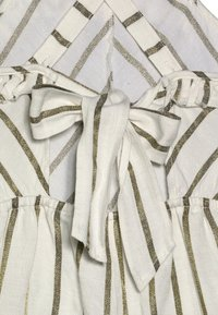 Scotch & Soda - WIDE LEG ALL IN ONE WITH RUFFLES IN DYED STRIPE - Jumpsuit - white/gold - 4