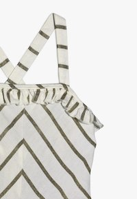 Scotch & Soda - WIDE LEG ALL IN ONE WITH RUFFLES IN DYED STRIPE - Jumpsuit - white/gold - 2