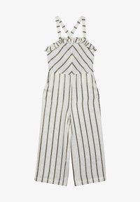 Scotch & Soda - WIDE LEG ALL IN ONE WITH RUFFLES IN DYED STRIPE - Overal - white/gold - 3