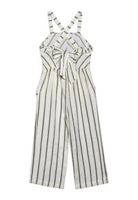 Scotch & Soda - WIDE LEG ALL IN ONE WITH RUFFLES IN DYED STRIPE - Overal - white/gold - 1