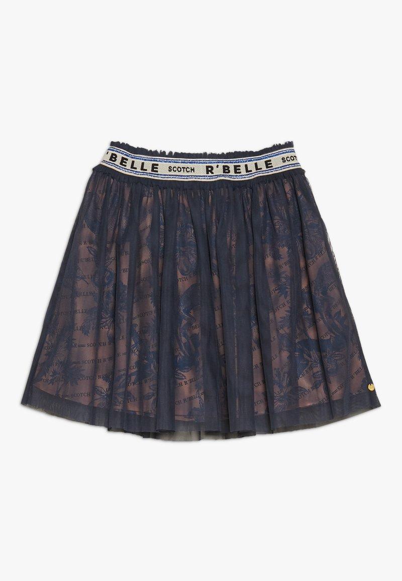 Scotch R'Belle - R'BELLE LAYERED SKIRT WITH ELASTIC WAISTBAND - A-lijn rok - dark blue