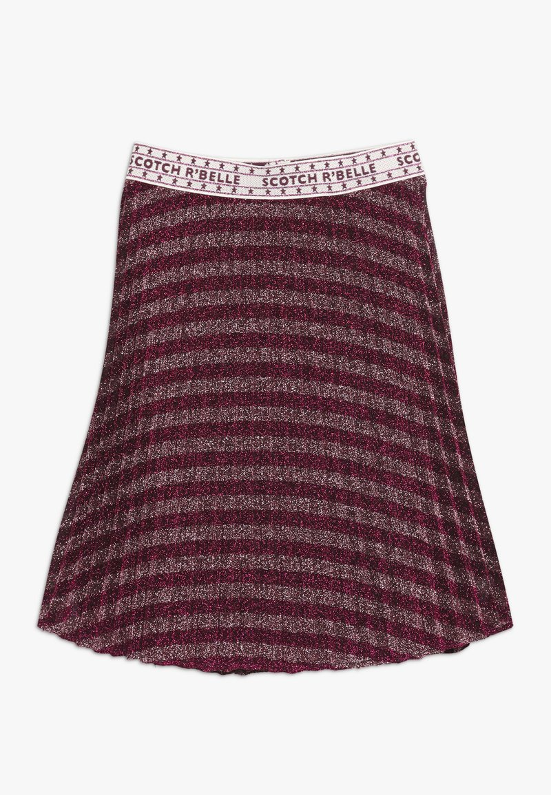 Scotch & Soda - MID LENGTH PLEATED SKIRT IN YARN DYED STRIP - A-line skirt - red