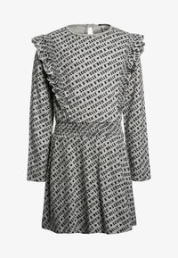Scotch R'Belle - ALLOVER PRINTED DRESS WITH RUFFLES - Jerseykjoler - grey - 0