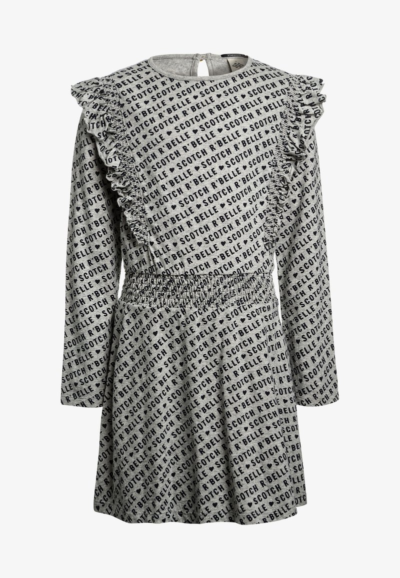 Scotch R'Belle - ALLOVER PRINTED DRESS WITH RUFFLES - Jerseykjoler - grey