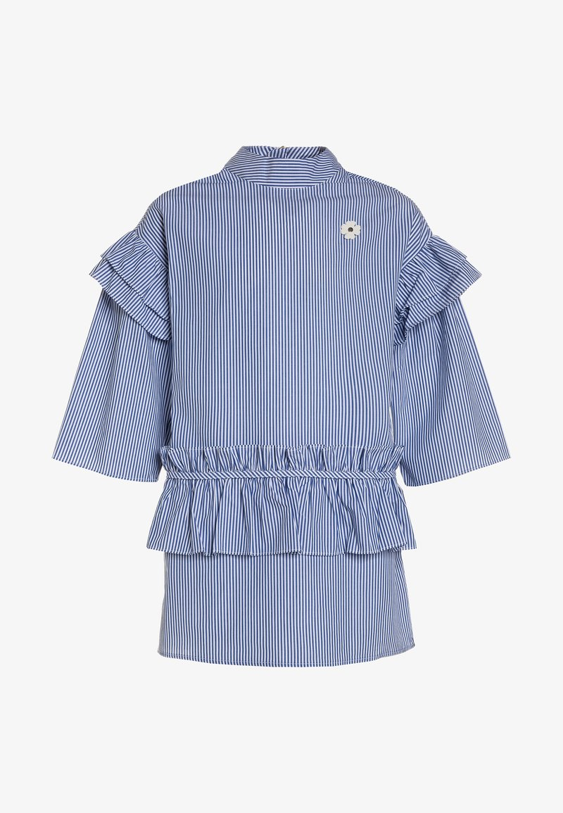 Scotch R'Belle - FASHION LONG SLEEVE RUFFLE WITH TURTLE NECK - Blouse - blue