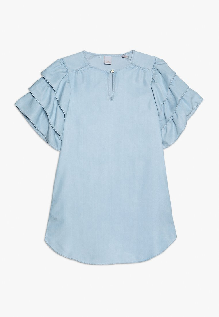 Scotch R'Belle - DRESS WITH RUFFLE SLEEVES - Denim dress - beach blue