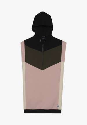 COLORBLOCK DRESS - Freizeitkleid - light pink/black