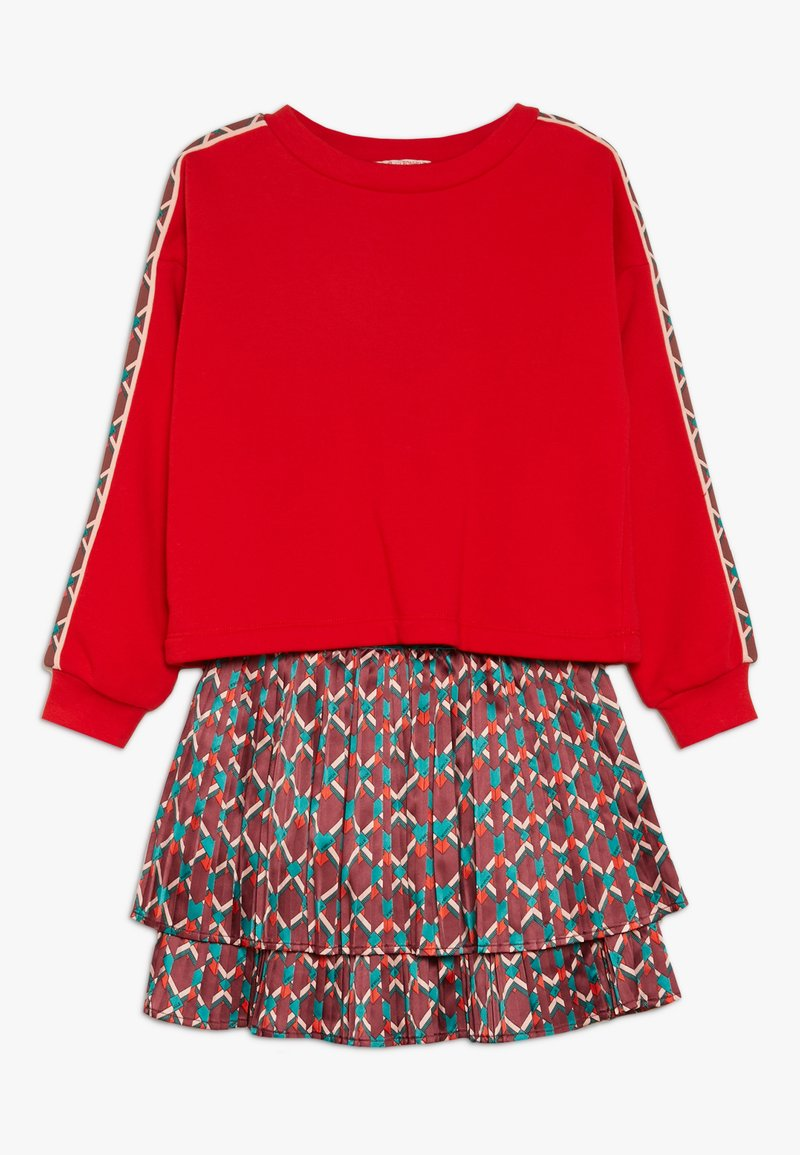 Scotch & Soda - 2-IN-1 STYLE DRESS WITH ALL OVER PRINTED - Vestido ligero - red/multicolor