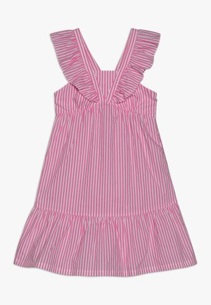 CRISPY DRESS IN YARN DYED STRIPES - Korte jurk - pink/white