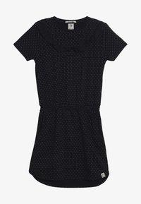 Scotch & Soda - DRESS WITH RUFFLES - Žerzejové šaty - dark blue - 2