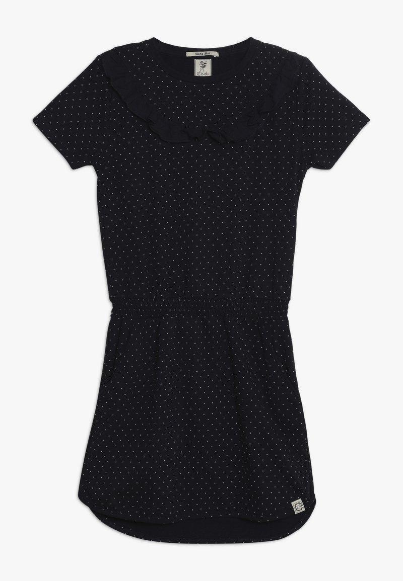 Scotch & Soda - DRESS WITH RUFFLES - Žerzejové šaty - dark blue