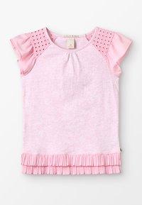 Scotch & Soda - MIXED TEE WITH PLEATED HEM - T-shirts med print - flamingo melange - 0