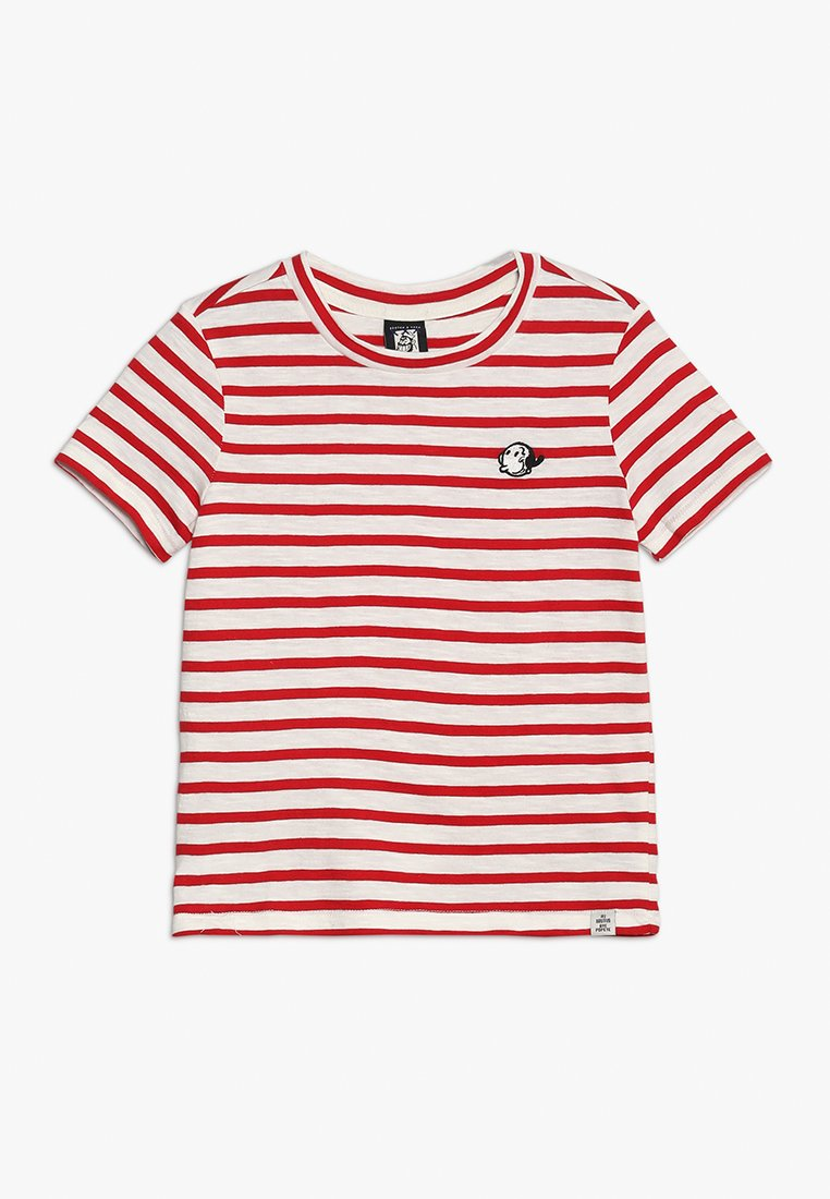 Scotch & Soda - BRUTUS AMS BLAUW COLAB STRIPE TEE WITH CHEST EMBROIDERY - T-Shirt print - red/white