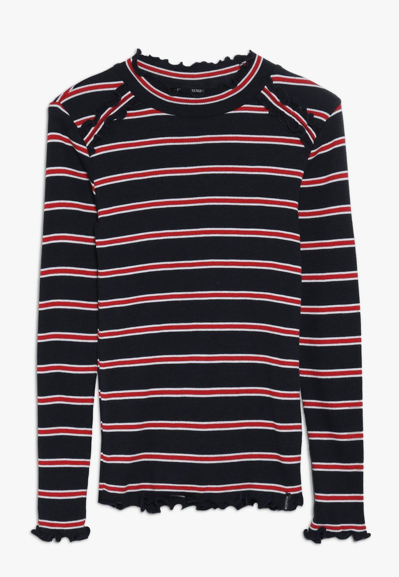 Scotch & Soda - LONG SLEEVE TEE DYE STRIPES - Langarmshirt - red